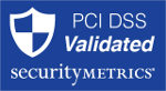 Security Certificate - PCI DSS Validated by Security Metrics